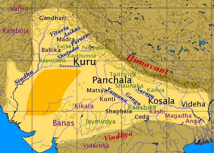 ancient india 3200BC map dwapara yuga