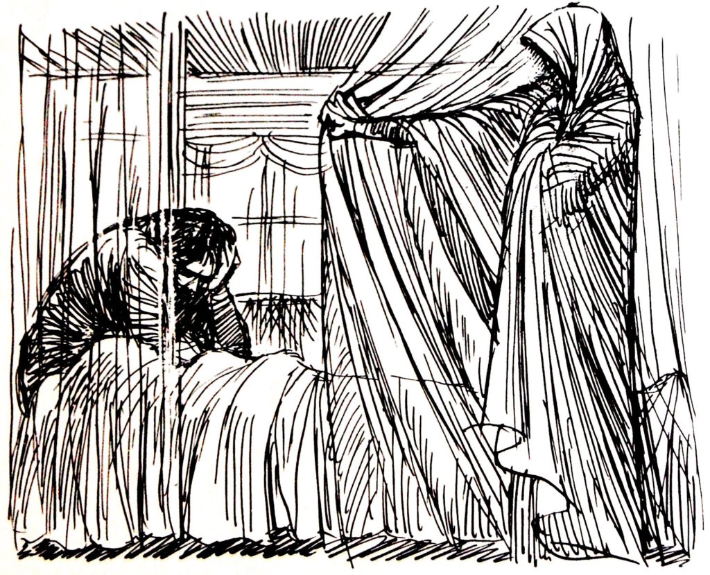 1940; FRITZ EICHENBERG தஸ்தயேவ்ஸ்கியின் அசடனுக்கு வரைந்த மரவெட்டு ஓவியம்