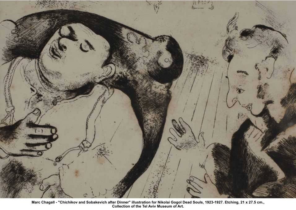 Marc-Chagall-Chichikov-and-Sobakevich